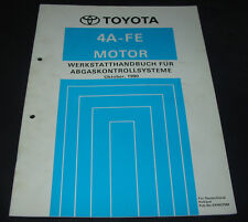 Werkstatthandbuch 4A-FE Motor Toyota Carina Abgaskontrollsystem Stand 10/1990!