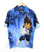 Dragonball Z Vegeta Autargo Mens Blue Short Sleeve Polyester Relaxed Shirt - S