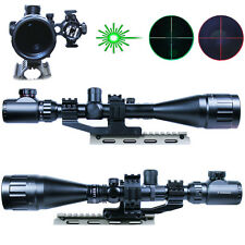 6-24x50 Hunting Rifle Scope Mil-dot illuminated Snipe Scope & GREEN Laser Sight