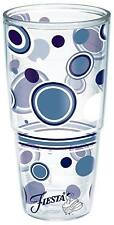 TERVIS Big T Tumbler HLC FIESTA Lapis Blue Dots Wrap Glass Tall 24 oz NEW Logo
