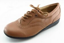 Dr. Scholl's Shoes Size 7.5 W Brown Lace Up Fashion Sneakers Leather Wmn Shoe