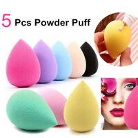 5Pcs Women Beauty Foundation blending Sponge blender Flawless Buffer Puff Makeup