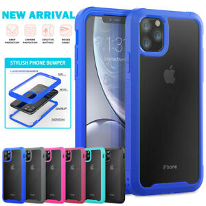 Clear Hybrid Bumper Case For iPhone 11 12 Pro Max XS XR 7 8 Plus Full Body Cover
