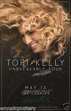 "TORI KELLY ""UNBREAKABLE TOUR"" 2016 CONCERT POSTER FOR SALT LAKE, PHOENIX,DETROIT"