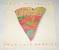"""Paul McCartney 7"""" 45 PICTURE SLEEVE ONLY NO DISC Only Love Remains CAPITOL 1986"""
