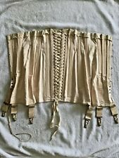 Antique Royal Worcester Cotton Corset S Xs Garters