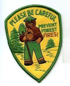 États-unis Forest Fire Combats Prévient Wildfire Patch - Smokey Bear Please Be