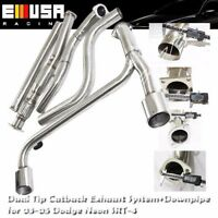 Dual Oval Muffler Tip Catback Exhaust& Downpipe for 03-05 Dodge Neon SRT-4 2.4T