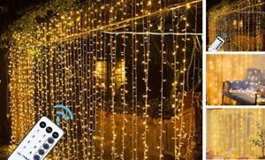 LED Curtain Lights 9.8 x 9.8 foot Fairy Curtain Light Back Yard Wedding Outdoor