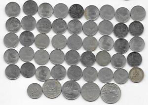 Dealer Flea Market Lot:50 Mixed Date/Type Rulers Thailand Thai One 1 Baht Coins
