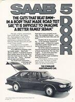 1978 SAAB 99 Hatchback Original Advertisement Print Art Car Ad PE69