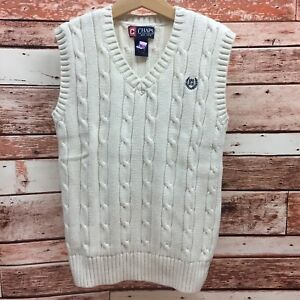 Chaps Boy's Ivory Sweater Vest. Size Small.