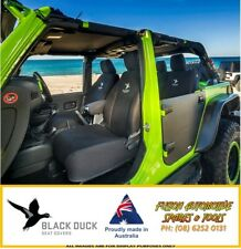 BLACK DUCK Front Bucket Seat Covers for Ford Everest 06/15+ Ambiente and Trend