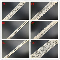 5Yards Vintage Cotton crochet lace trim Ribbon wedding/cake decoration DIY Craft