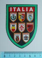 ADESIVO VINTAGE STICKER AUTOCOLLANT SCUDO ITALIA ANNI '80 8x6 cm BELLO E RARO