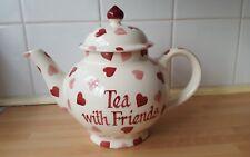Emma Bridgewater Tea Pot Hearts Tea With Friends 4 Cup - boxed
