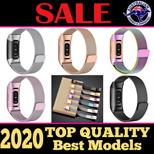 Metal Stainless Steel Band for Fitbit Charge 3 4 Milanese Loop Wristband Strap