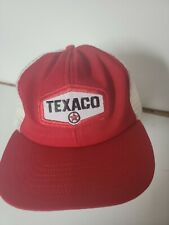 Vintage Made In The USA Texaco Mesh Patch Trucker Hat Snapback