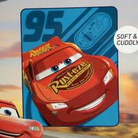 Disney Pixar Cars Lightning Mcqueen Silky Soft Throw Blanket Kids Boys Girls NEW