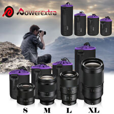 4 Pack Waterproof Neoprene Soft DSLR Camera Lens Pouch Protector Bag Case Set
