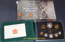 2003 PROOF DOUBLE DOLLAR SET - CANADIAN 8-COIN SET - CASE, BOX & CERTIFICATE