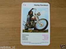 EASY RIDER 1A HARLEY-DAVIDSON 1200CC KWARTET KAART, QUARTETT CARD,SPIELKARTE