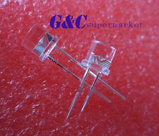 100PCS F5 5MM FLAT TOP LED BLUE SUPER BRIGHT Wide Angle Leds Lamps high QUALITY