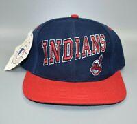 Cleveland Indians Vintage 90s Twins Enterprise Wool Snapback Cap Hat - NWT