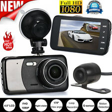 4''HD Dual Lens Camera 1080P Car DVR Vehicle Video Dash Cam Recorder G-Sensor US