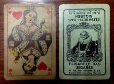 ANTIQUE Playing Cards ~ ELISABETH BAS CIGARS ~ c.1910, 52 Deck & ORIGINAL BOX