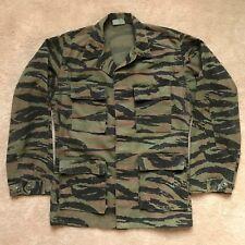 US Army USA Made Tiger Stripe Jungle Camouflage Shirt Coat Jacket BDU Small Long