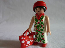 PLAYMOBIL personnage maison dame de ville et son sac n°4 h