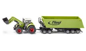 Siku 1949 Claas Axion 850 Tractor with Frontloader, Dolly Tipping Trailer 1:50