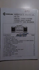 Samsung pd-770 service manual original repair book boombox tape player radio