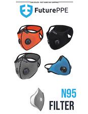 Face Mask - Face Cover - Mesh - Reusable Dual Air Valve Cycling Face Cover Sale