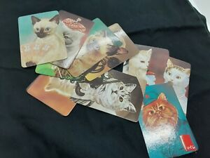 Lot of 12 vintage 1988 cute cats pocket calendars Portuguese