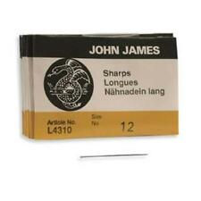 25 #12 John James SHARP English Beading Needles -  Fine SHARPS