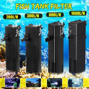 Submersible Fish Tank Filter Aquarium Internal Filter Pump 60L-250L