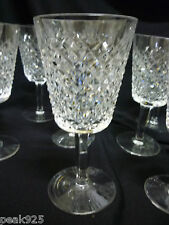 "7 WATERFORD Alana Water Goblet Glasses 6 7/8"" Old Mark Ireland"