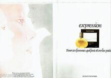 PUBLICITE ADVERTISING 026  1978  Jacques Fath  parfum femme ( 2p) Expression