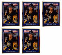 (5) 1992 Sports Cards #38 Jaromir Jagr Hockey Card Lot Pittsburgh Penguins