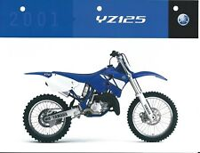 Motorcycle Data Sheet - Yamaha - YZ125 - 2001 (DC496)