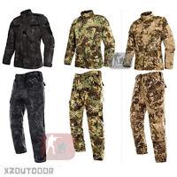 Airsoft Combat Military BDU Tactical Uniform Jacket Pants Special forces Suit