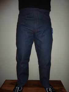 BEIYUAN Shearing Trousers Pants Dungarees Polyester Cotton Denim