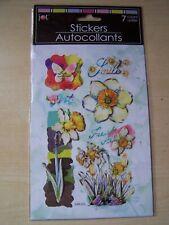 NEW - JOT -  DIMENSIONAL STICKERS - SMILE / DAFFODILS -7 PIECES