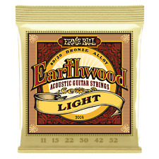Genuine Ernie Ball Earthwood Light 80/20 Bronze Acoustic Strings 11-52 P02004
