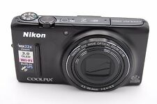 Nikon COOLPIX S9500 18.1MP Digital Camera - Black- NO ACCESSORIES
