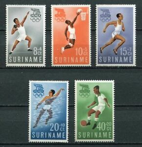 29759) Suriname 1960 MNH Neu Olympic Games Rome 5v