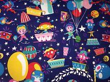 25 cm Jersey Marsmännchen Luftballons Auf Dunkelblau Kinderstoff