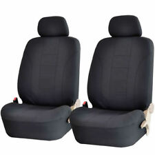 NEW 4 PIECE PREMIUM SOLID BLACK FRONT CAR SEAT COVERS SET for TOYOTA Volkswagen